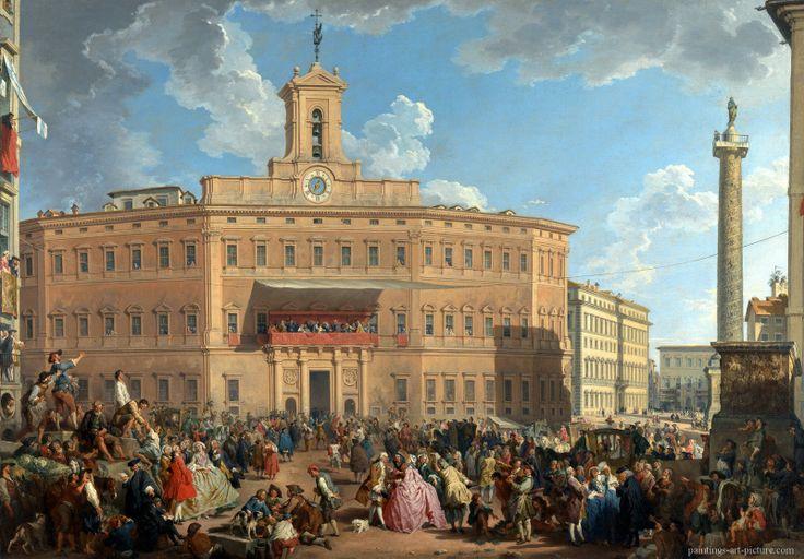 PANNINI-Giovanni-Paolo-The-Lottery-in-Piazza-di-Montecitorio.