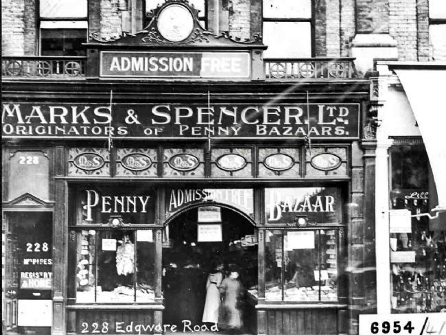 Marks and Spencers Edgware Road, London store in 1912 © Marks and Spencers Company Archive