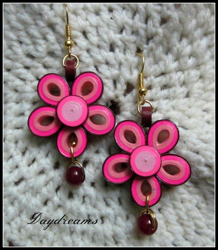 501 best Quilling - Paper Bead Earrings 3 images on Pinterest Quilling jewelry, Paper beads ...