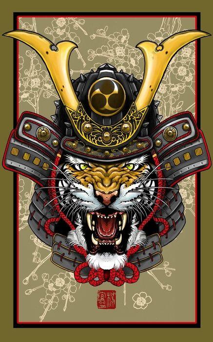 Tiger kabuto art print by elvin tattoo on artsider com