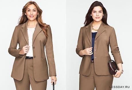 Коричневые офисные костюмы для девушек