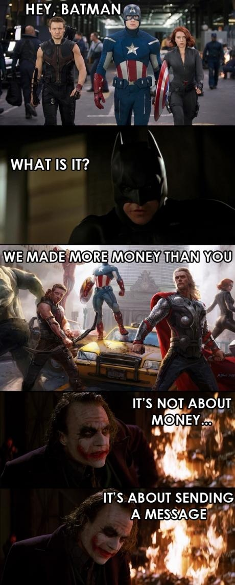 In my book batman will always beat every superhero and every superhero team. Batman would beat every single avenger if he had to fight them. http://roflburger.com