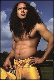 Troy Polamalu! Showing this picture to my then 3 yo niece is what made her a Steelers fan!