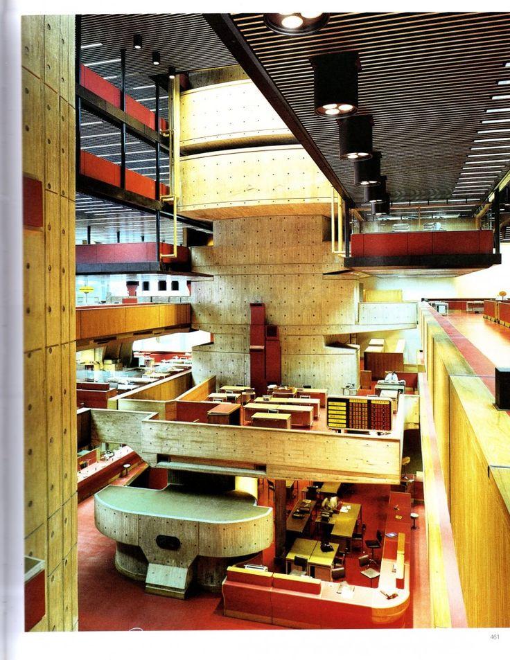 banking architecture Interior of the Banco de Londres in Buenos Aires, Argentina, by Clorindo Testa - Brutalist Furniture, Interesting Buildings, Minimalist Home, Home Interior Design, Home Remodeling, Interior Architecture, Villa, New Homes, House Design