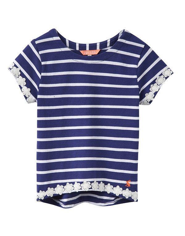 T-Shirt BONNIE marine Streifen blau/weiß