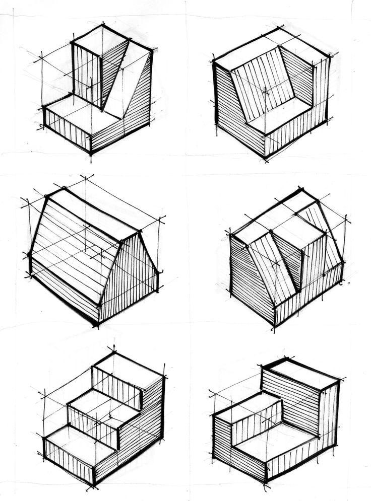 Exercícios para 1, 2 e 3 pontos de fuga - perspectiva cônica - 3