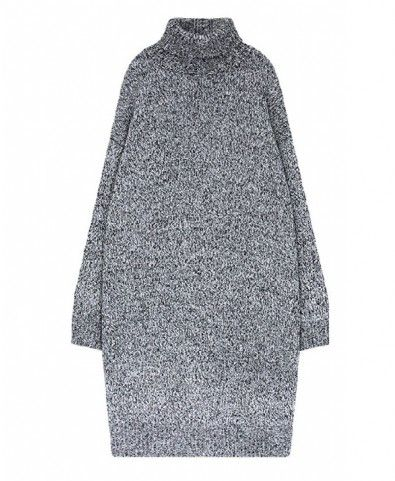 Turtle Neck Heather Grey Knit Dress