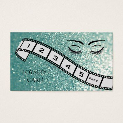 #salon - #Loyalty card  glittery filmstrip eyelashes eyebrow