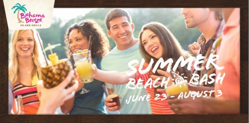Do you live near a Bahama Breeze Island Grille? Check out the all new summer beach bash from now until August 3rd! #Ad #SummerBeachBash