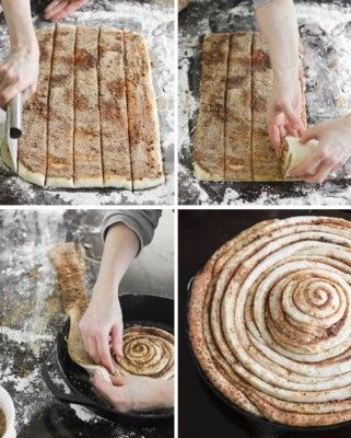 The Homestead Survival | Cast Iron Skillet Cinnamon Roll | Frugal Cooking -   http://thehomesteadsurvival.com