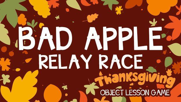Thanksgiving Object Lesson Game: Bad Apple Relay Race | I Love Kids Church #kidmin