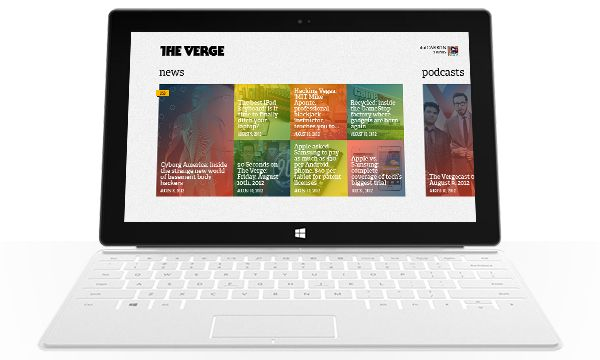 The Verge for Windows 8 on Behance
