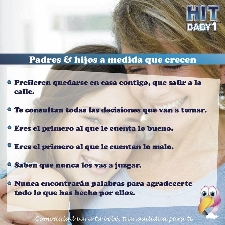 La comunicación entre padres e hijos mejora a medida que crecen.  #Comunicación #adolescentes #hijos #padres #madres #adultos