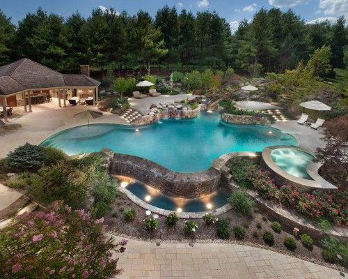resort-like pool.: Amazing Pools, Dreams Backyard, Lewis Aquatech, Dreams House, Outdoor Kitchens, Outdoor Spaces, Dreams Pools, Backyard Pools, Pools Design