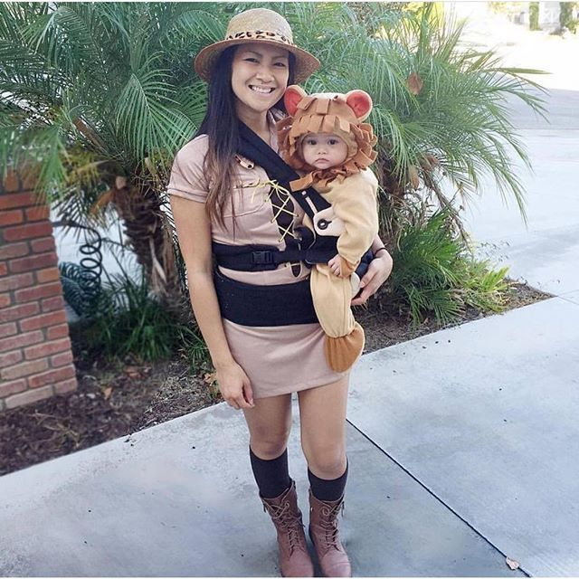 Pin for Later: 42 Adorable Halloween Costumes For Baby-Wearing Parents Lion (and Lion Tamer)