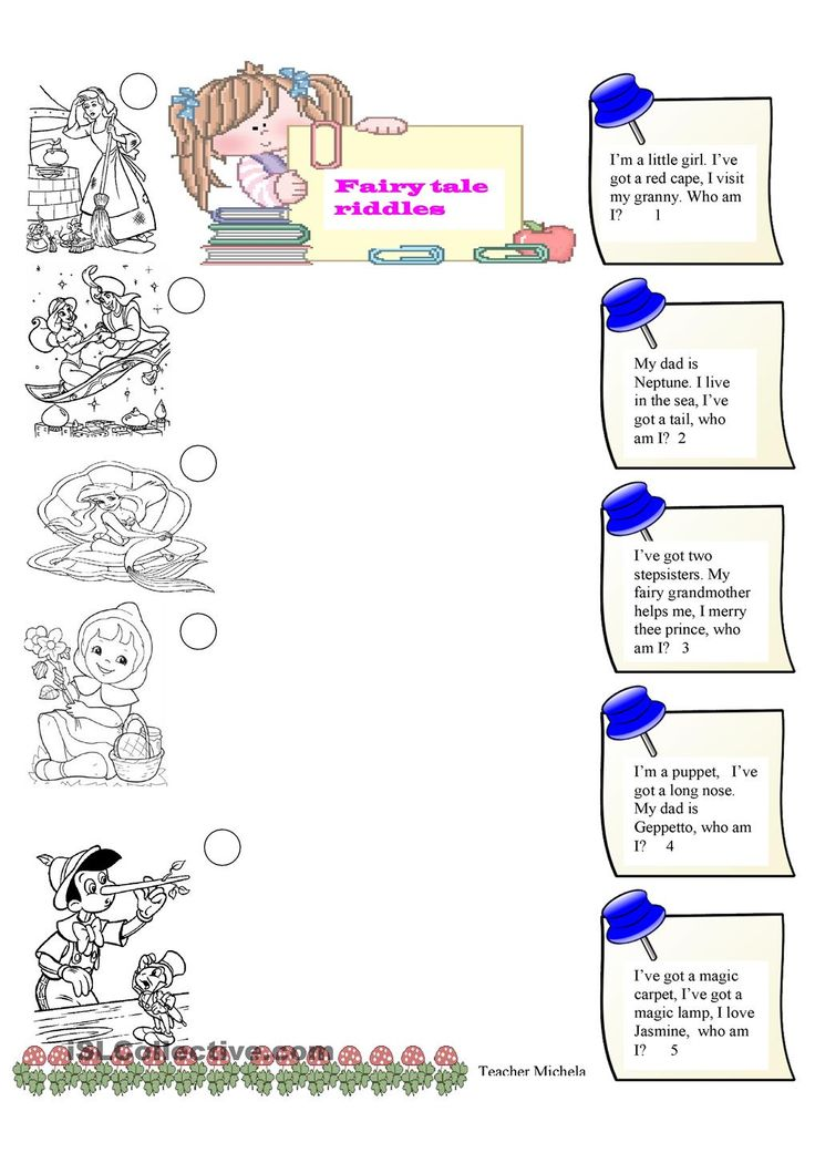 Fairy tale riddles