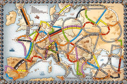 Ticket to Ride Europe- geography board game