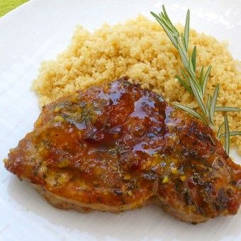 #Apricot #PorkChops with #Rosemary - #quick and  #easy!
