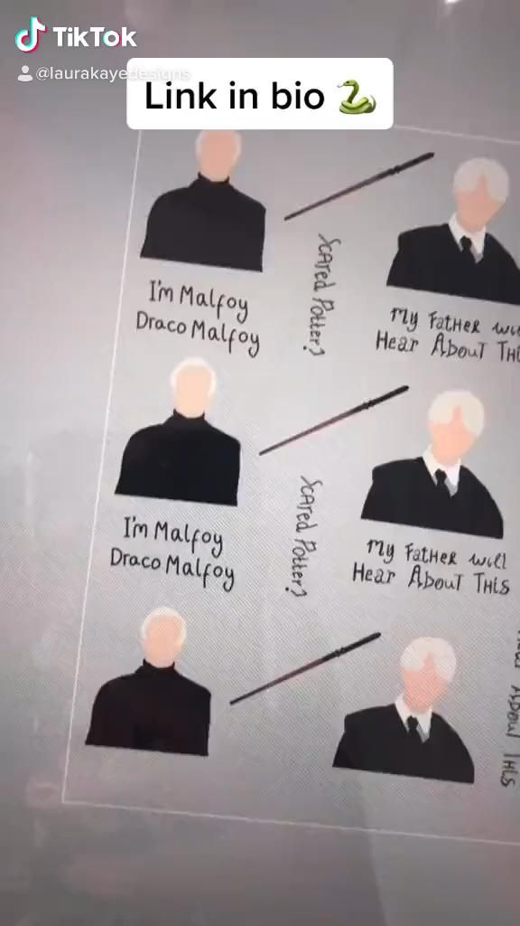 New Draco Malfoy Stickers Video Draco Malfoy Gifts For Office Harry Potter Illustration