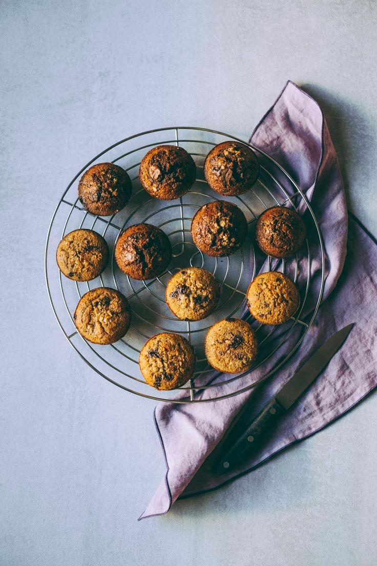 choco and vanilla muffins