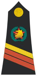 Caporal-Chef rank insignia [Master Corporal] (Shoulder board), former army of the Republic of the Congo (West Congo).