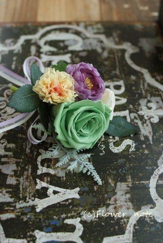 【今日の贈花】コサージュ 80歳のお誕生日パーティー♪|Flower note の 花日記 (横浜・上大岡 アレンジメント教室)