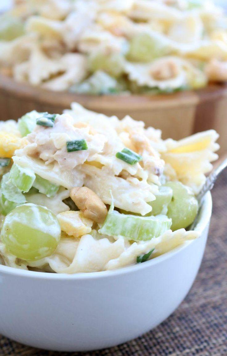 Cashew Chicken Pasta Salad on MyRecipeMagic.com