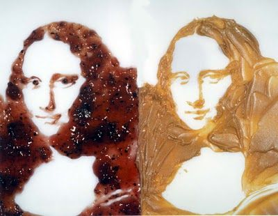 Double Mona Lisa (peanut butter and jelly)