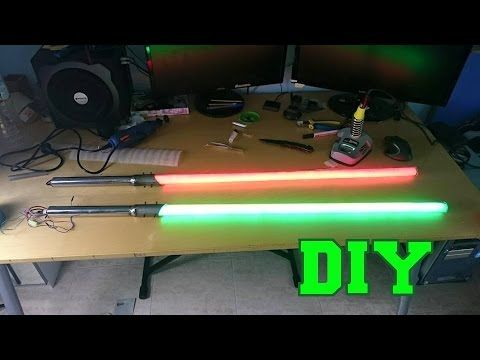 DIY Lightsaber with LED - YouTube                              …