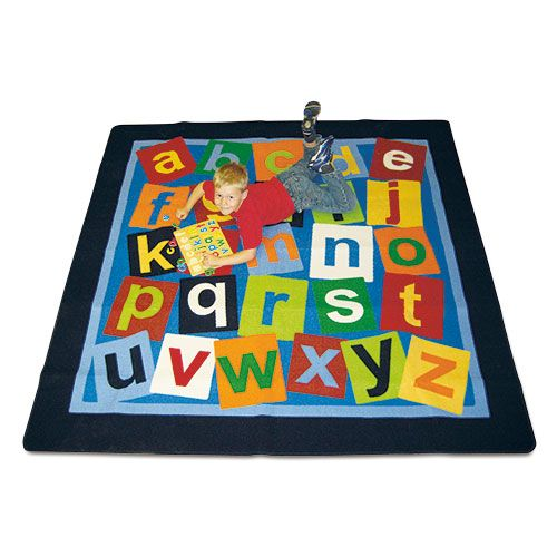 abc Carpet - Colourful hardwearing nylon carpet with non slip backing. Ideal for use in the classroom.