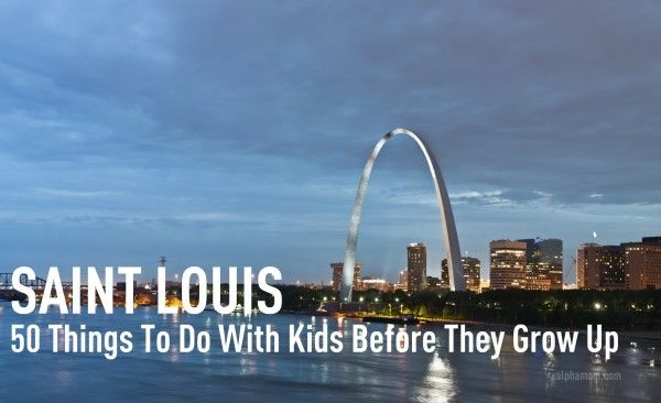 50 Things to do with Kids in St. Louis Before (or Even After) They Grow Up...lots of things we always do, but some good new ideas... and lots of free stuff unless u want souvenirs