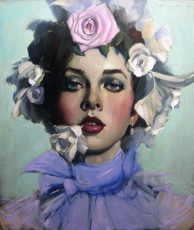 Malcolm Liepke | Woman in Flowers | Telluride Gallery