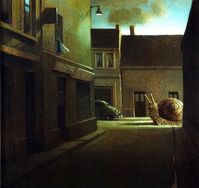 Michael Sowa German Artist: Snails, Haunted Cities, Illustrations Art, Michaelsowa, Michael Sowa, Odd Things, Art Prints, Paintings, German Artists