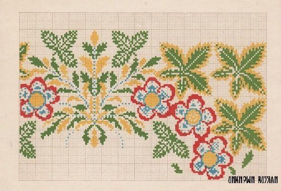 (17) Gallery.ru / Фото #4 - Узоры для вышивания, 1950 г., Декалькомания - unknown-russian