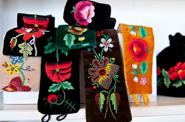 Belts with embroidery from Łowicz