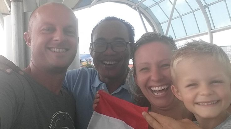 At the airport with guests from Netherlands