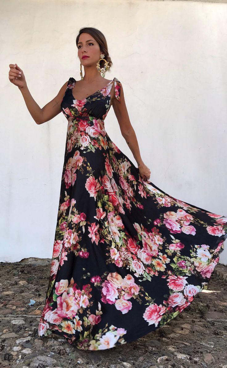 VESTIDO ALBA -NEGRO - Rocío Osorno - Diseñadora de moda - Sevilla