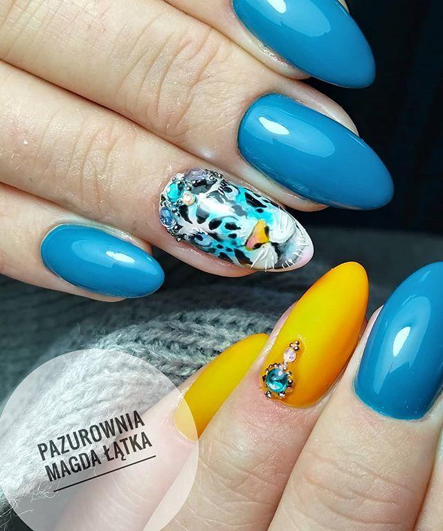 Pin by Gosiagosia on ABA GROUP NAILS   Swag nails, Neon