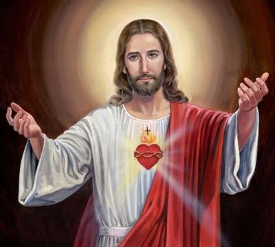 What are some ways to use sacred heart of Jesus images?