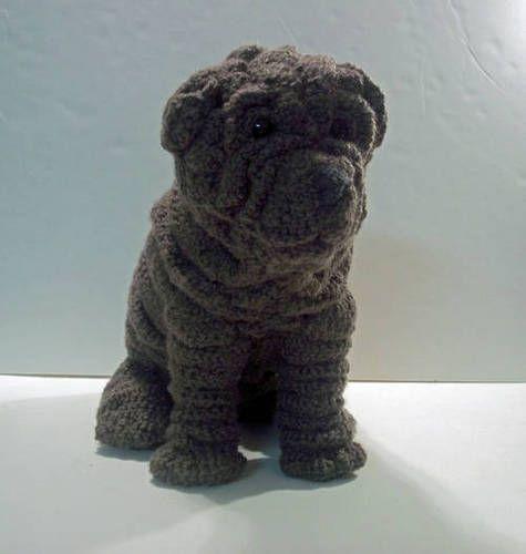Crochet Sharpei - Éste es en verdad una locura increíble crochet ... WOW.