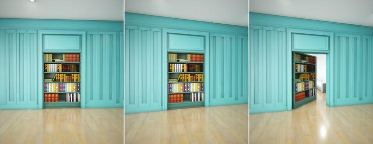 Hidden Room Bookcase   #hiddenroom #bookcase #door