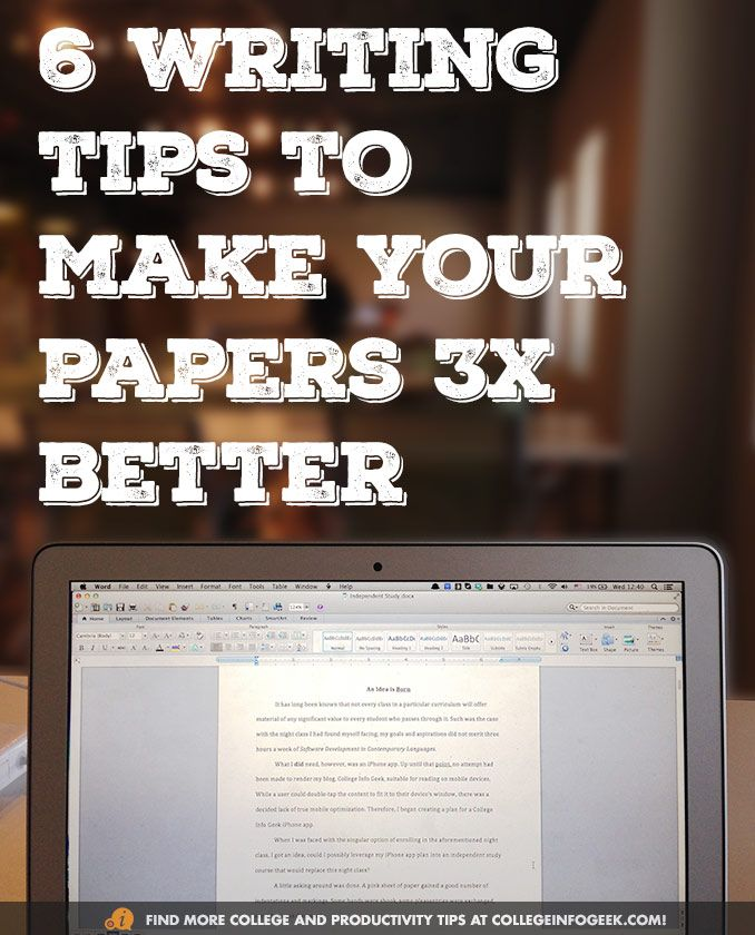 6 tips to write better papers. #collegetips Make an appt at UK's writing center here: uky.mywconline.com