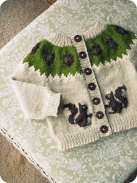 Ravelry: TraceyNicoles squirrely sweater