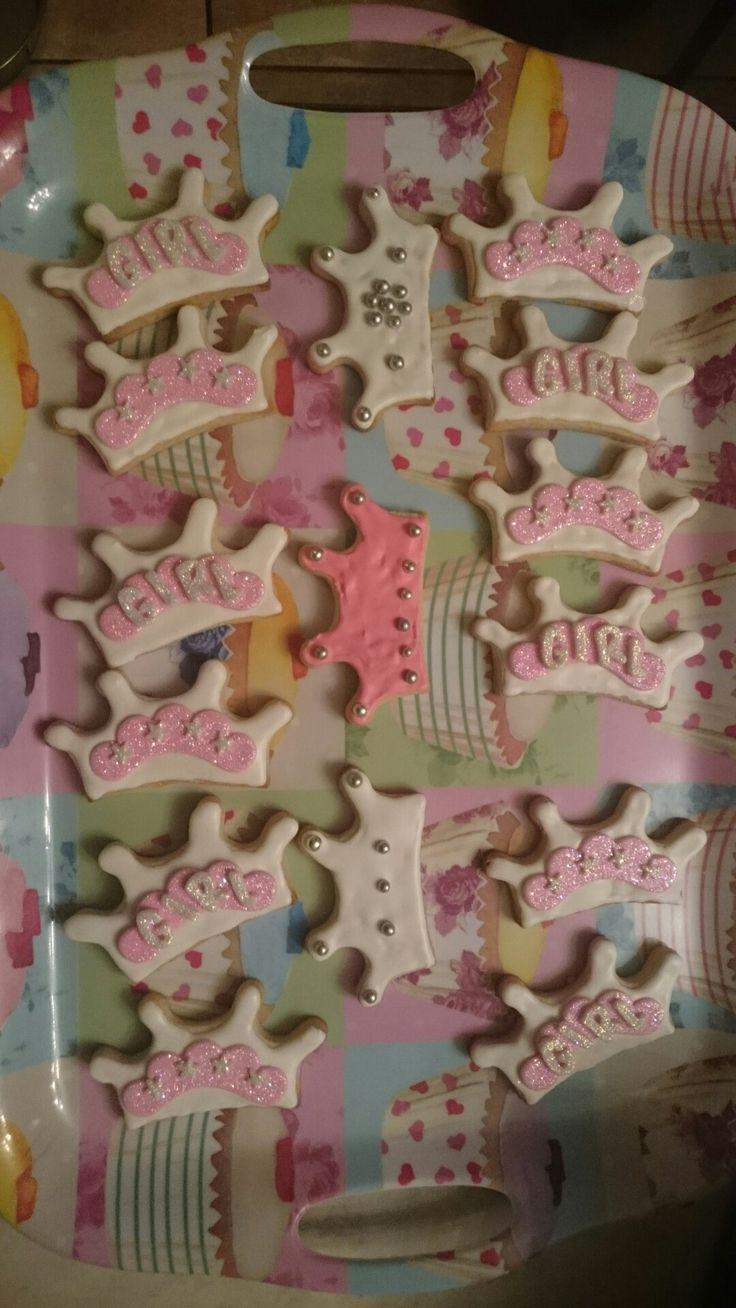 Crown and fondant sugar cookies