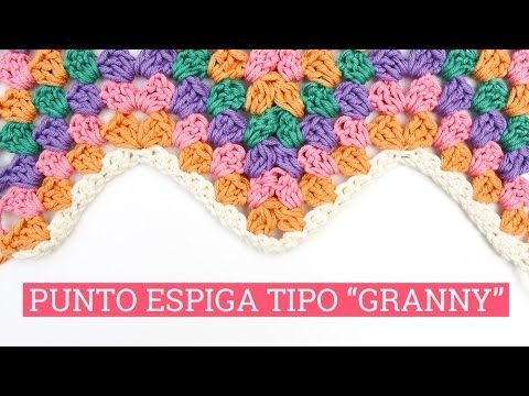 Vídeo tutorial: Punto espiga estilo granny square en ganchillo | Bluü