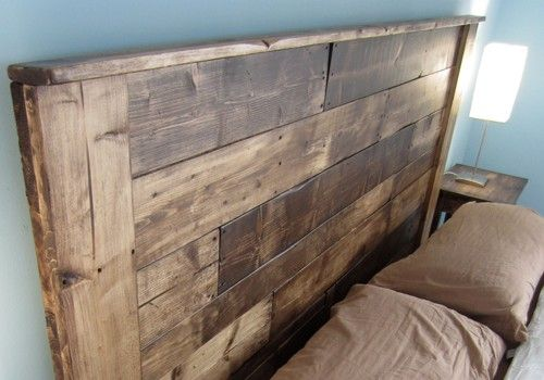 Build a king sized pallet headboard diy projects to try for How to make a king size headboard out of pallets