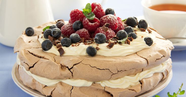 Chocolate lovers rejoice! This yummy spin on the traditional pavlova is heaven on a plate.