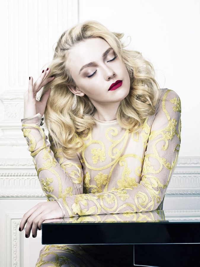 Dakota Fanning by David Slijper for Elle UK February 2012, styled by Anne-Marie Curtis