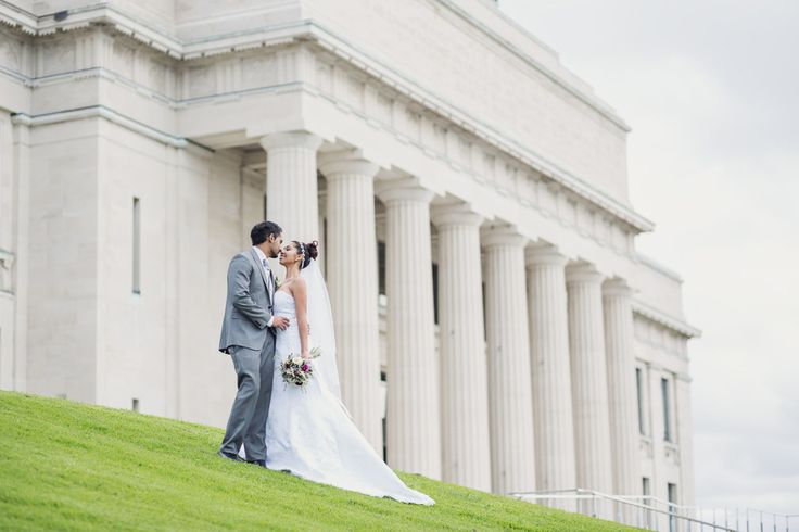 auckland domain, museum, winter wedding auckland
