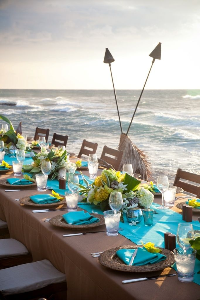 25 Best Ideas About Beach Table Settings On Pinterest